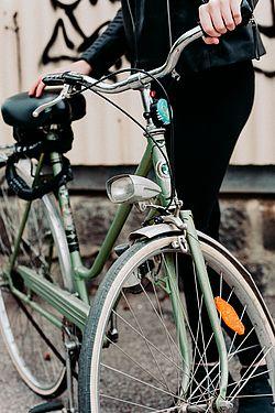 Hellgrünes Puch-Fahrrad