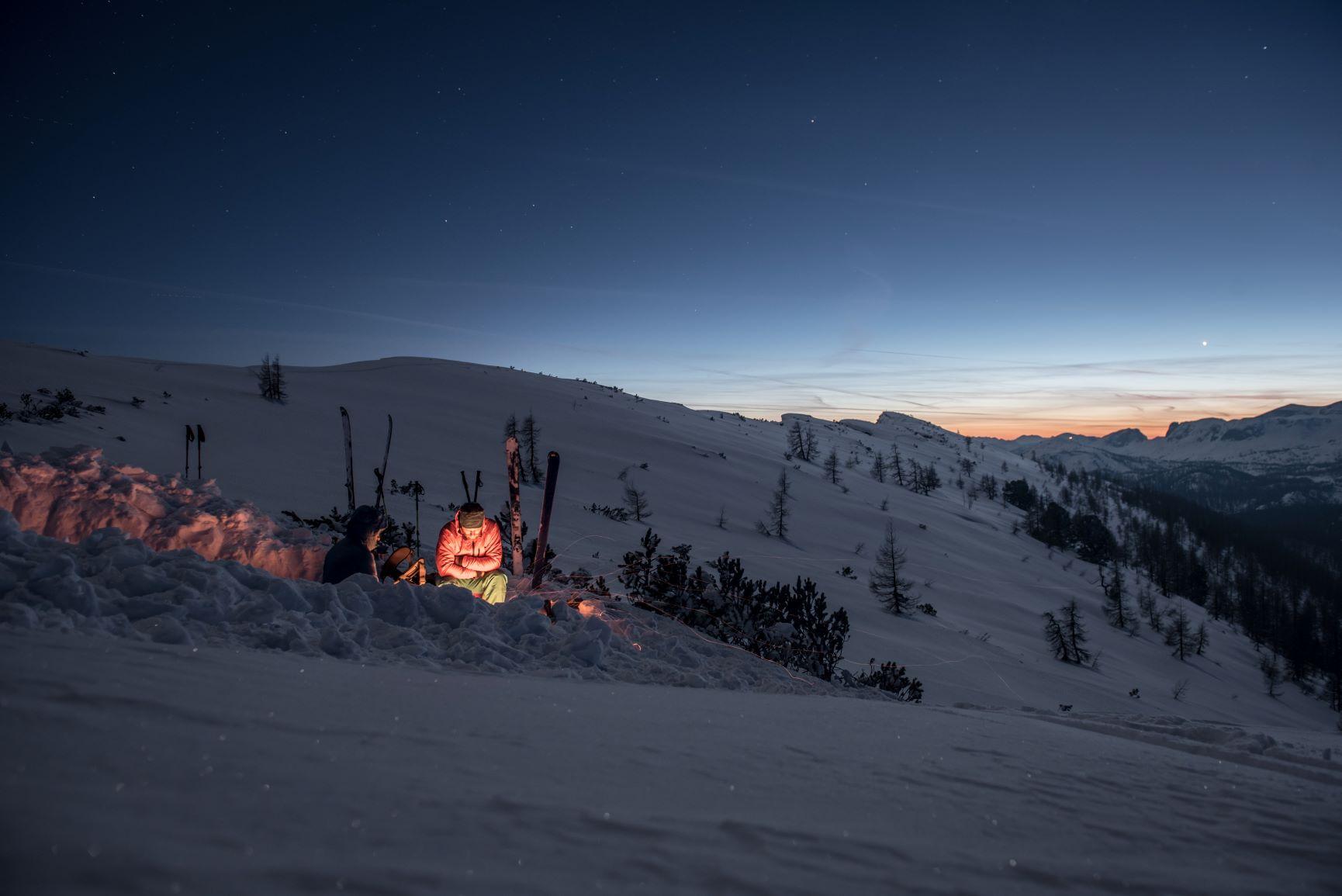 Biwak Winter Schlafplatz