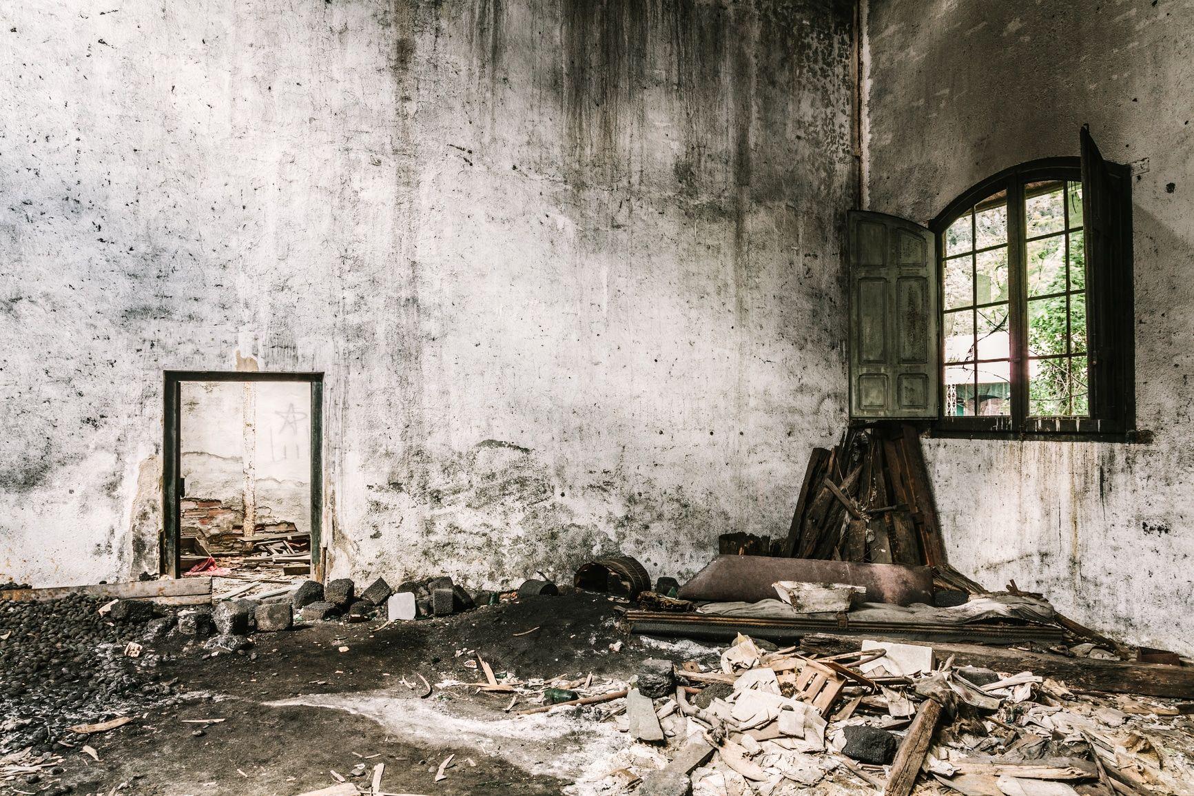 abgebranntes Haus