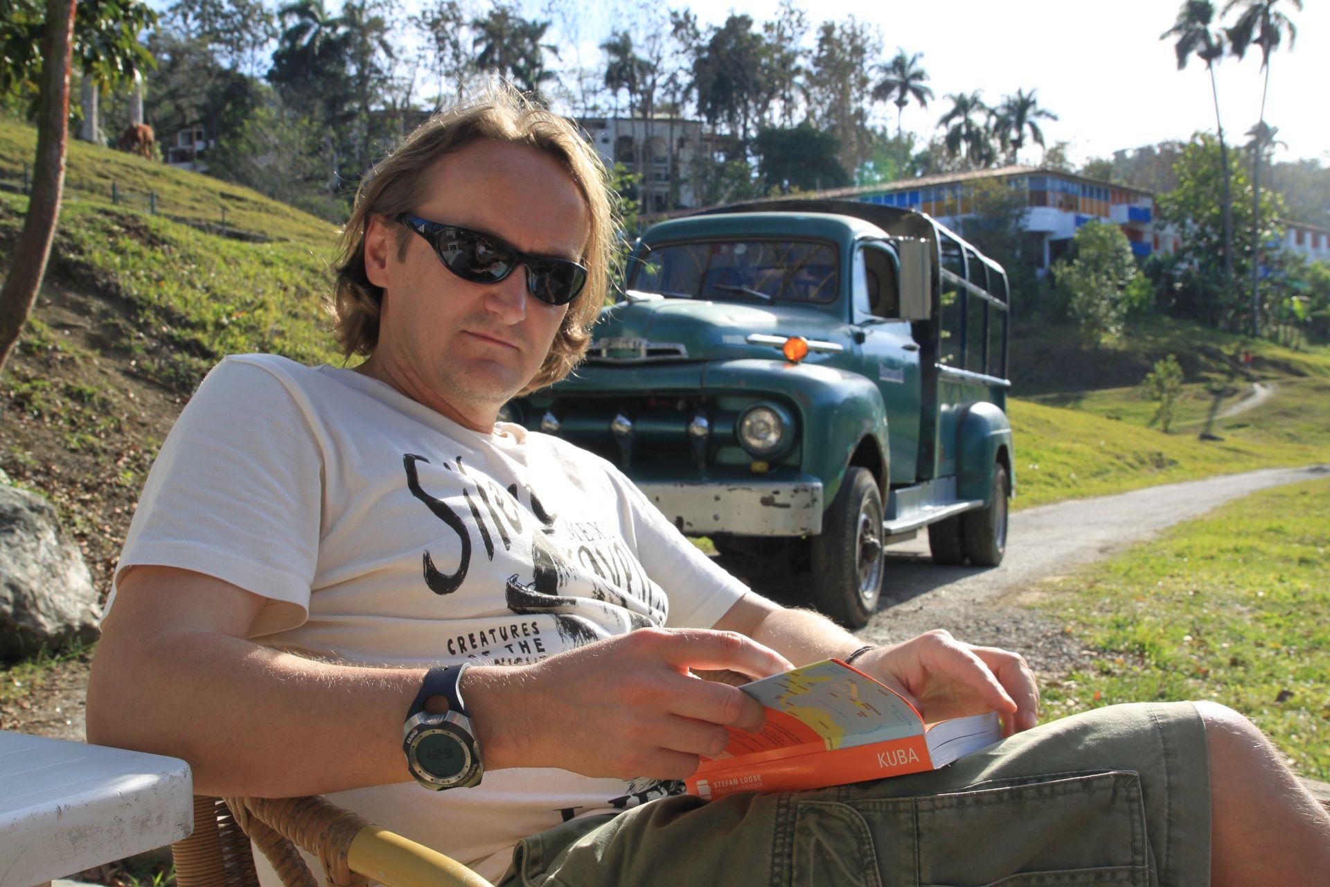 Wolfgang beim Urlauben auf Kuba