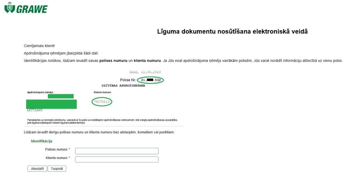 Eingabemaske Lettland