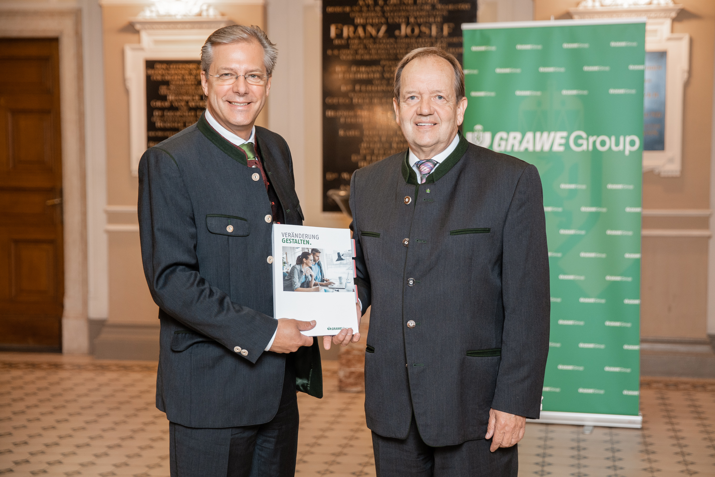 Generaldirektor der GRAWE AG Mag. Klaus Scheitegel und Vorsitzender des Vorstands der GRAWE-Vermögensverwaltung Dr. Othmar Ederer