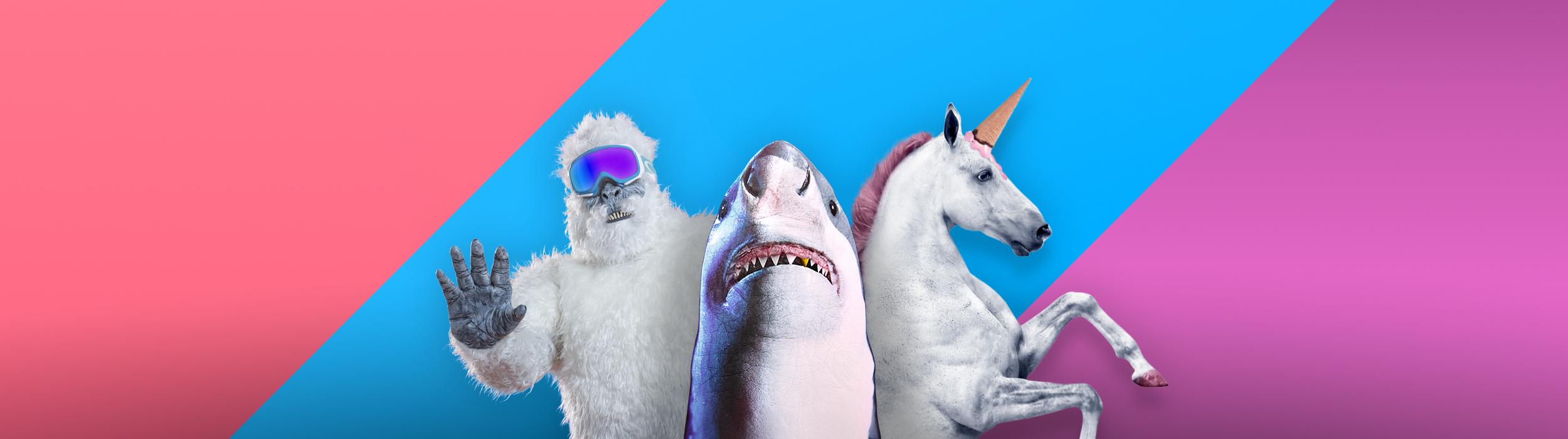 Gutes Ende - Yeti, Weißer Hai und Einhorn